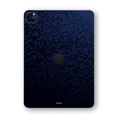 iPad PRO 11-inch 2020 Navy Blue Honeycomb 3D Textured Skin Wrap Sticker Decal Cover Protector by EasySkinz