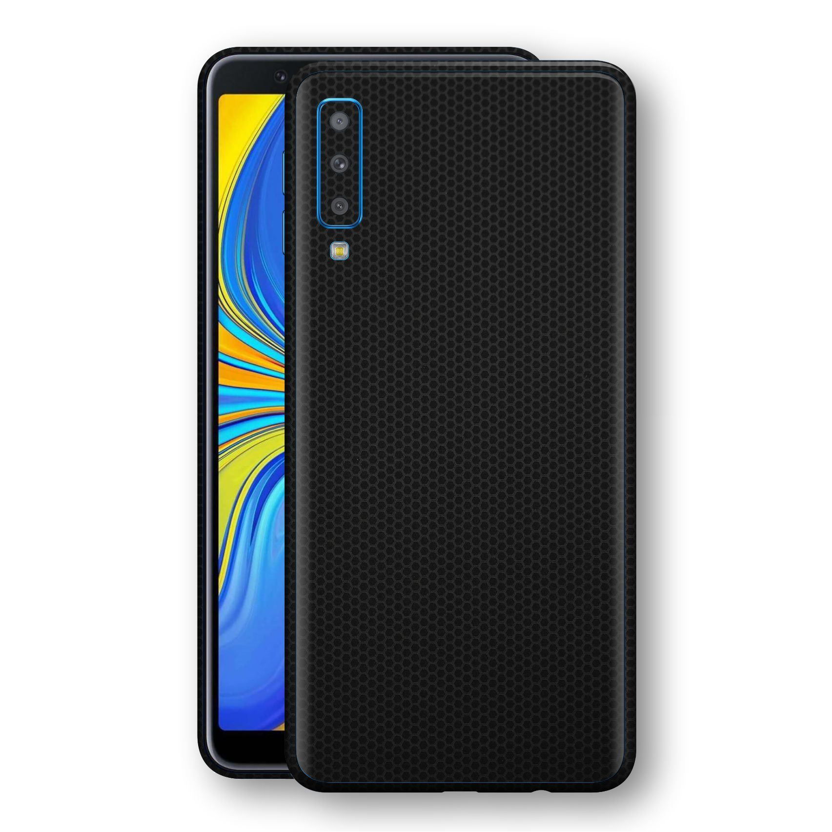Samsung Galaxy A7 (2018) Black Matrix Textured Skin Wrap Decal 3M by EasySkinz