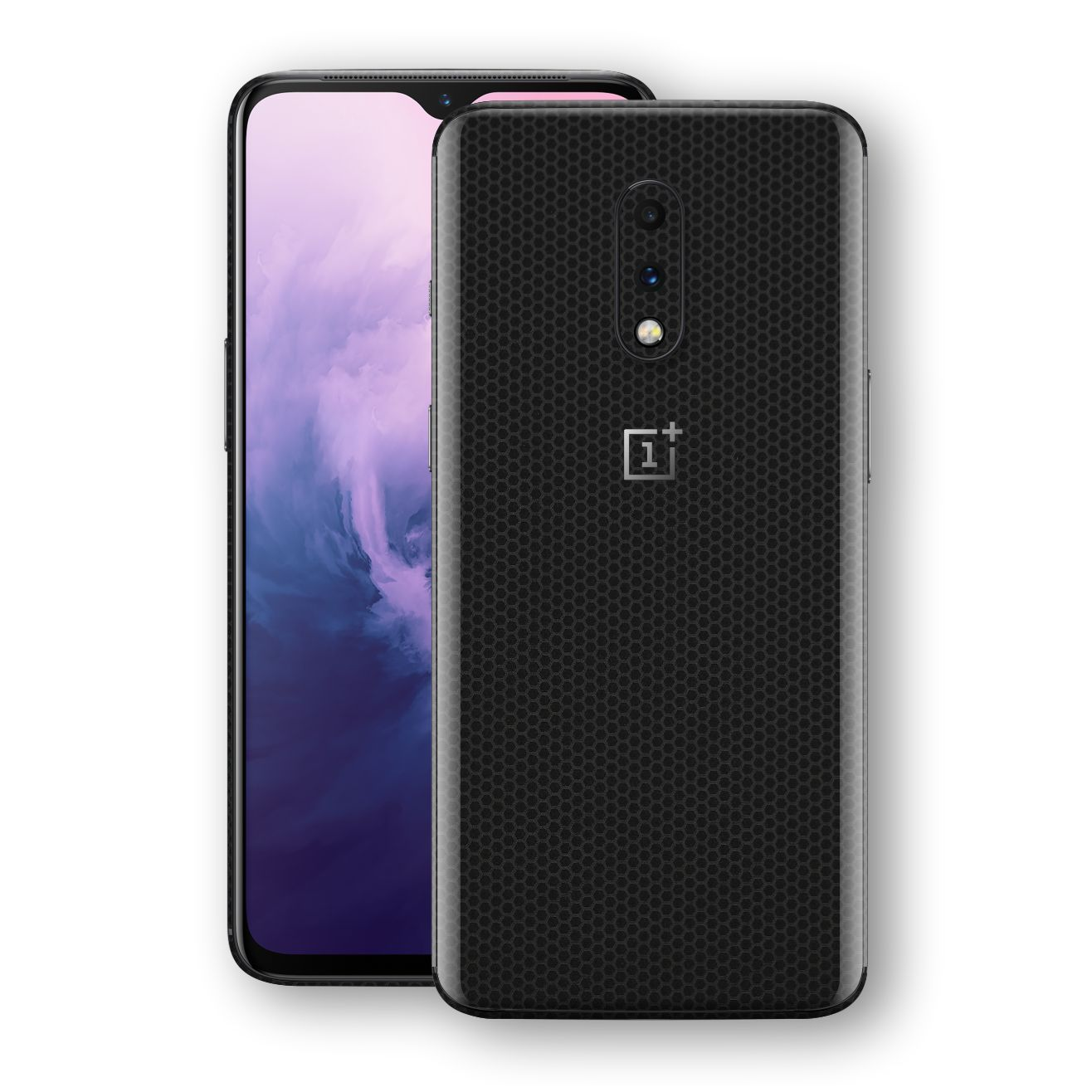 OnePlus 7 Black Matrix Textured Skin Wrap Decal 3M by EasySkinz