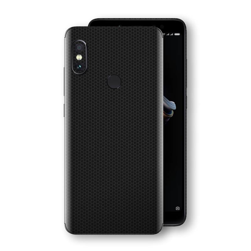 XIAOMI Redmi NOTE 5 Black Matrix Textured Skin Wrap Decal 3M by EasySkinz