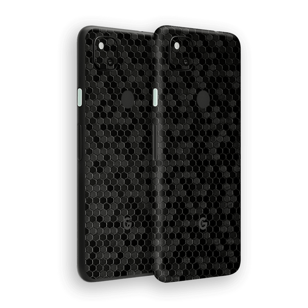 Google Pixel 4a Black Honeycomb 3D Textured Skin Wrap Sticker Decal Cover Protector by EasySkinz