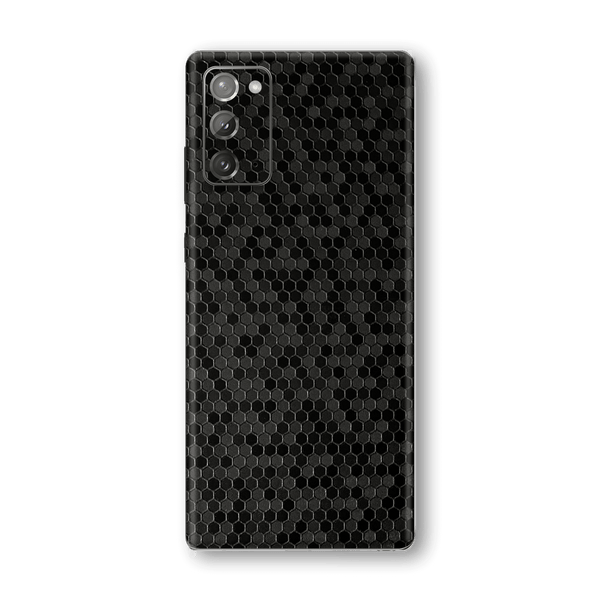 Samsung Galaxy NOTE 20 Black Honeycomb 3D Textured Skin Wrap Sticker Decal Cover Protector by EasySkinz