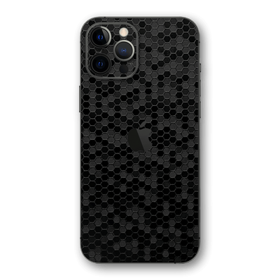 iPhone 12 PRO BLACK Honeycomb 3D Textured Skin Wrap Sticker Decal Cover Protector by EasySkinz