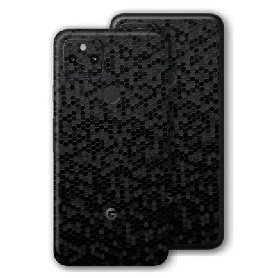 Pixel 4a 5G Luxuria Black Honeycomb 3D Textured Skin Wrap Sticker Decal Cover Protector by EasySkinz