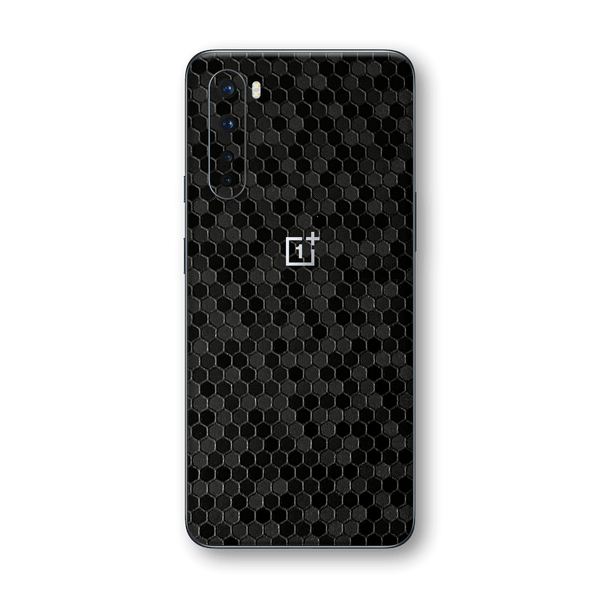 OnePlus Nord Black Honeycomb 3D Textured Skin Wrap Sticker Decal Cover Protector by EasySkinz