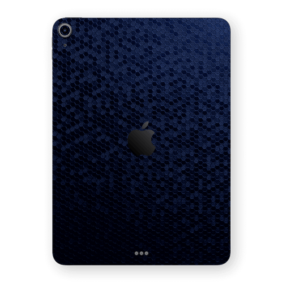 iPad AIR 4 (2020) Luxuria Navy Blue Honeycomb 3D Textured Skin Wrap Sticker Decal Cover Protector by EasySkinz