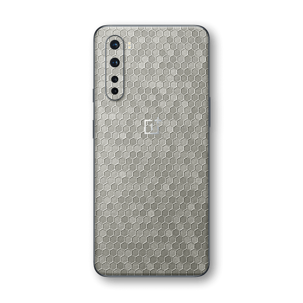 OnePlus Nord Silver Honeycomb 3D Textured Skin Wrap Sticker Decal Cover Protector by EasySkinz