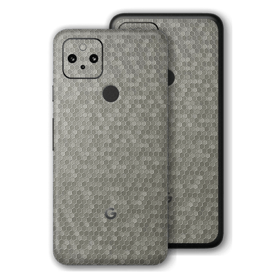 Pixel 4a 5G Luxuria Silver Honeycomb 3D Textured Skin Wrap Sticker Decal Cover Protector by EasySkinz