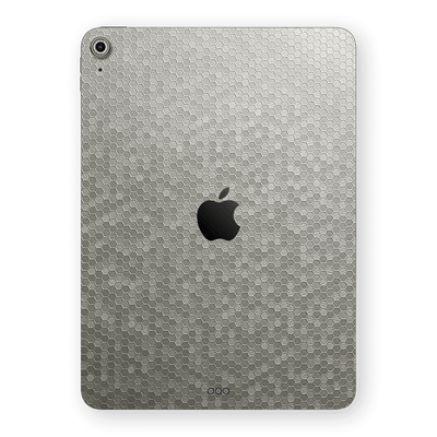 iPad AIR 4 (2020) Luxuria Silver Honeycomb 3D Textured Skin Wrap Sticker Decal Cover Protector by EasySkinz