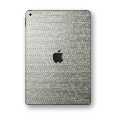 "iPad 10.2"" (8th Gen, 2020) SILVER Honeycomb 3D Textured Skin Wrap Sticker Decal Cover Protector by EasySkinz"