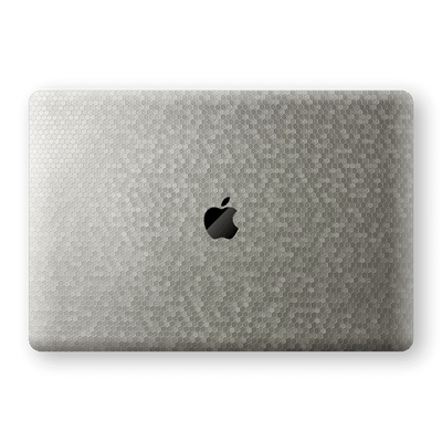 "MacBook Pro 16"" (2019) SILVER Honeycomb 3D Textured Skin Wrap Sticker Decal Cover Protector by EasySkinz"