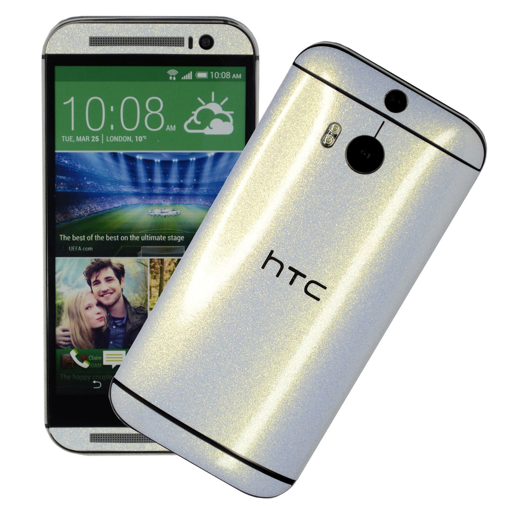 HTC One M8 champagne gold skin