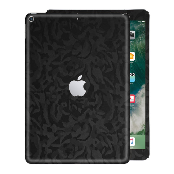 iPad 9.7 inch 2017 Luxuria Black 3D Textured Camo Camouflage Skin Wrap Decal Protector | EasySkinz