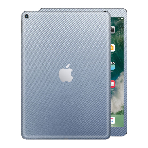 "iPad 9.7"" inch 5th Generation 2017 3D Textured Arctic Blue CARBON Fibre Fiber Skin Wrap Sticker Decal Cover Protector by EasySkinz"