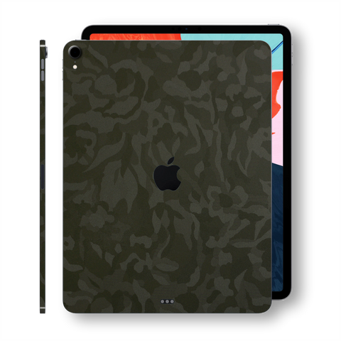"iPad PRO 12.9"" inch 3rd Generation 2018  Luxuria GREEN 3D Textured Camo Camouflage Skin Wrap Decal Protector 