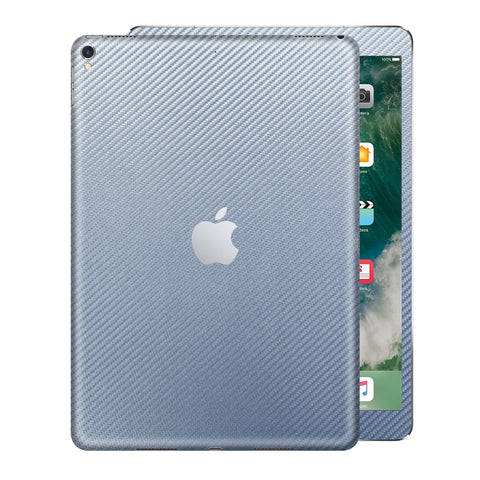 "iPad PRO 10.5"" inch 2017 Arctic Blue 3D Textured CARBON Fibre Fiber Skin Wrap Sticker Decal Cover Protector by EasySkinz"