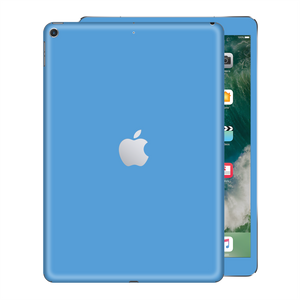 iPad 9.7 inch 2017 Gloss Glossy SKY BLUE Skin Wrap Sticker Decal Cover Protector by EasySkinz