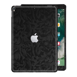 iPad PRO 12.9 inch 2017 Luxuria Black 3D Textured Camo Camouflage Skin Wrap Decal Protector | EasySkinz