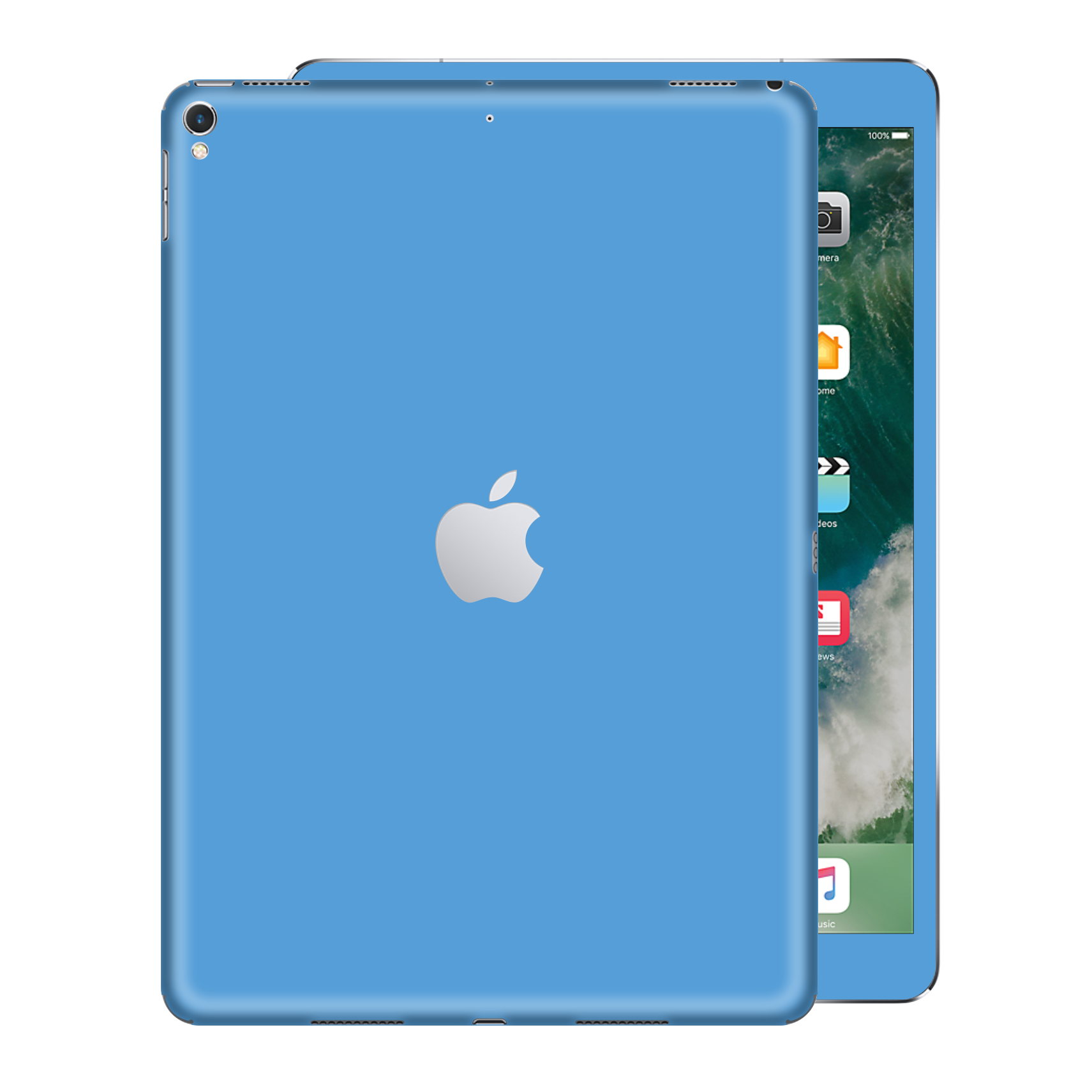 "iPad PRO 12.9"" inch 2nd edition 2017 SKY BLUE Gloss Glossy Skin, Decal, Wrap, Protector, Cover by EasySkinz 