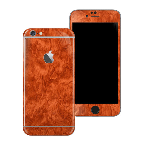 iPhone 6S Mahogany Wood Wooden Skin Wrap Decal Protector | EasySkinz