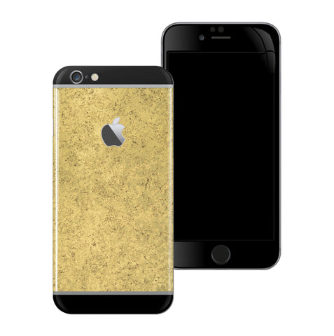 iPhone 6S PLUS Luxuria Egyptian Gold and Black Matt Skin Wrap Decal Protector | EasySkinz