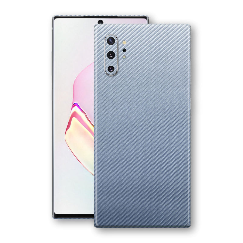 Samsung Galaxy NOTE 10+ PLUS 3D Textured Arctic Blue Carbon Fibre Fiber Skin, Decal, Wrap, Protector, Cover by EasySkinz | EasySkinz.com
