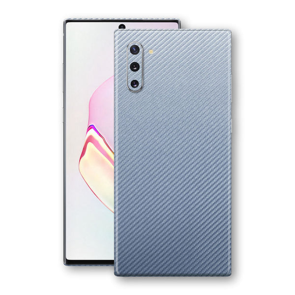 Samsung Galaxy NOTE 10 3D Textured Arctic Blue Carbon Fibre Fiber Skin, Decal, Wrap, Protector, Cover by EasySkinz | EasySkinz.com