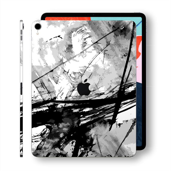 "iPad PRO 11"" inch Signature Abstract Black and White Printed Skin Wrap Decal Protector 