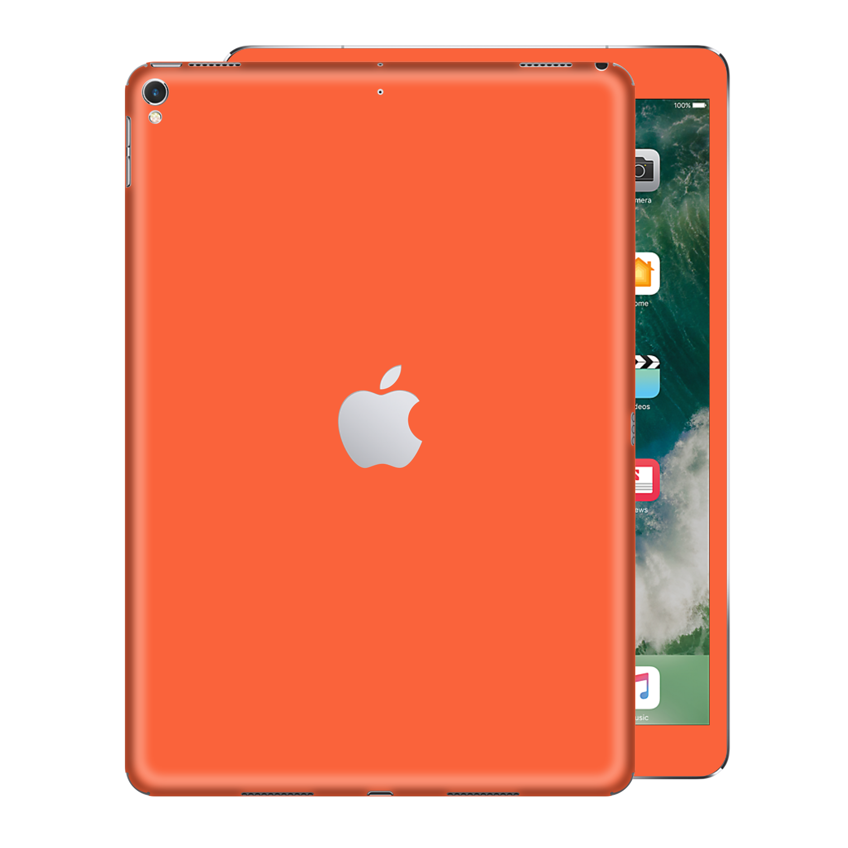 iPad PRO 10.5 inch 2017 Gloss Glossy CORAL Skin Wrap Sticker Decal Cover Protector by EasySkinz
