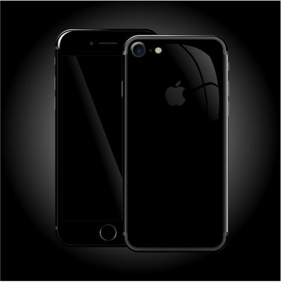 iPhone 7 Luxuria JET BLACK High Gloss Finish Skin Wrap Decal Protector | EasySkinz