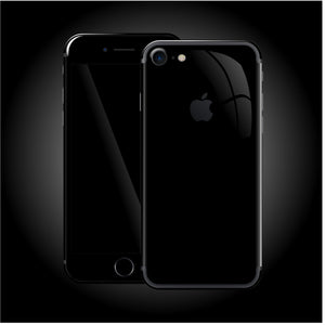 iPhone 8 Luxuria JET BLACK High Gloss Finish Skin Wrap Decal Protector | EasySkinz