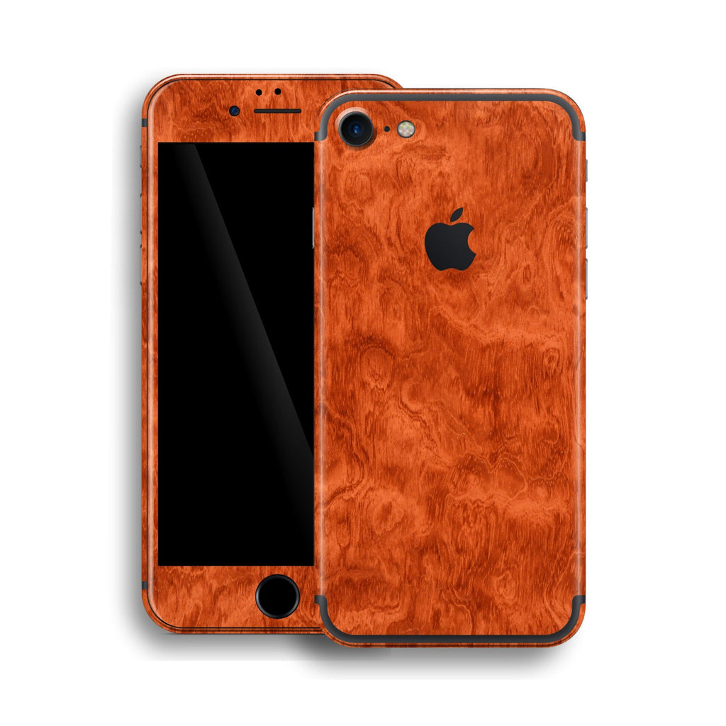 iPhone 7 Mahogany Wood Wooden Skin Wrap Decal Protector | EasySkinz