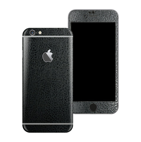 iPhone 6S Plus Luxuria Black Leather Skin Wrap Decal Protector | EasySkinz