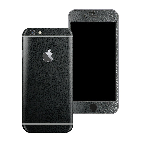 iPhone 6S Luxuria BLACK Leather Skin Wrap Decal Protector | EasySkinz