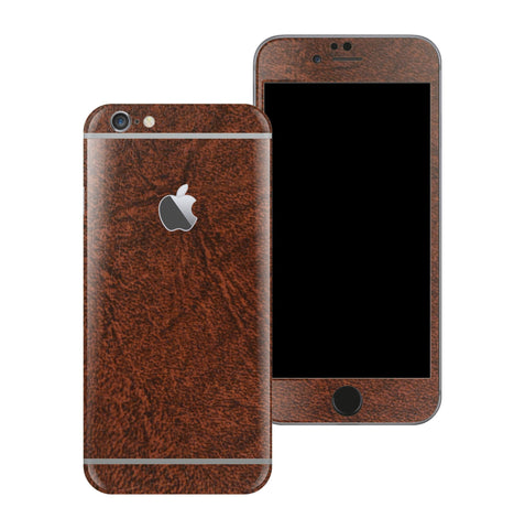 iPhone 6 Plus Luxuria Brown Leather Skin Wrap Decal Protector | EasySkinz