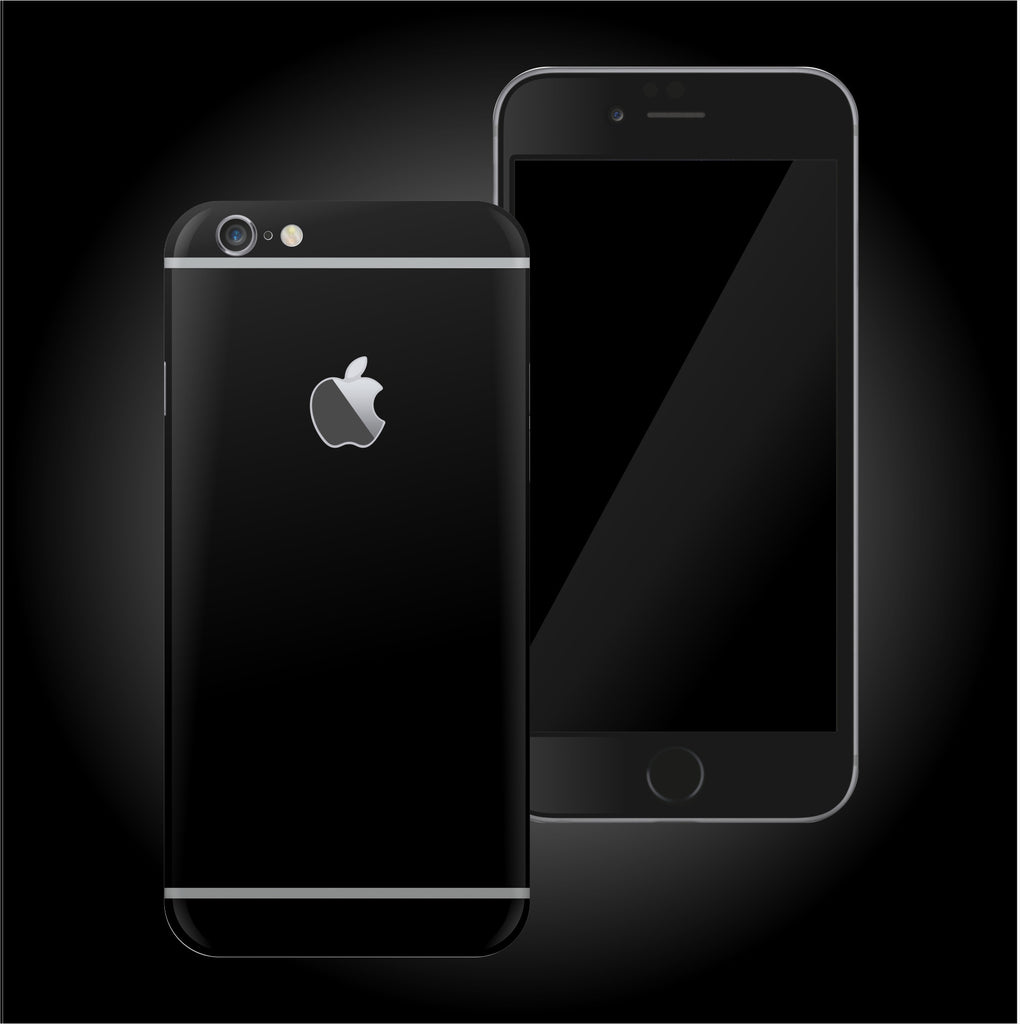 iPhone 6 PLUS DEEP BLACK Matt Skin Wrap Decal Protector | EasySkinz
