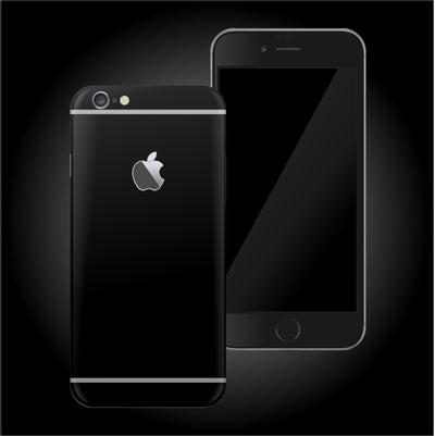 iPhone 6 DEEP BLACK Matt Skin Wrap Decal Protector | EasySkinz