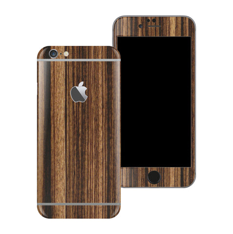 iPhone 6 Luxuria Zebrano Wood Wooden Skin Wrap Decal Protector | EasySkinz