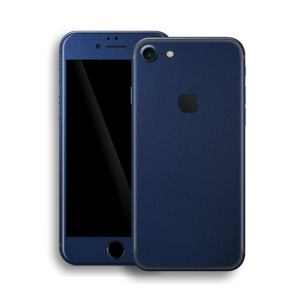 iPhone 7 Deep Ocean Blue Matt Skin Wrap Decal Protector | EasySkinz