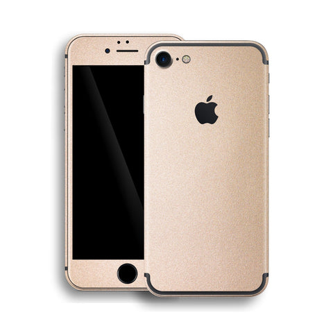 iPhone 7 Luxuria Rose Gold Metallic Skin Wrap Decal Protector | EasySkinz