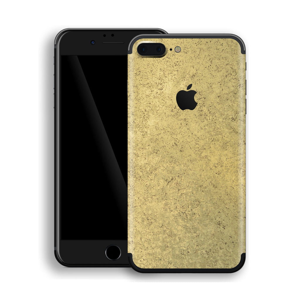 IPhone 7 Plus Luxuria Egyptian Gold And Black Matt Skin Wrap Decal Protector