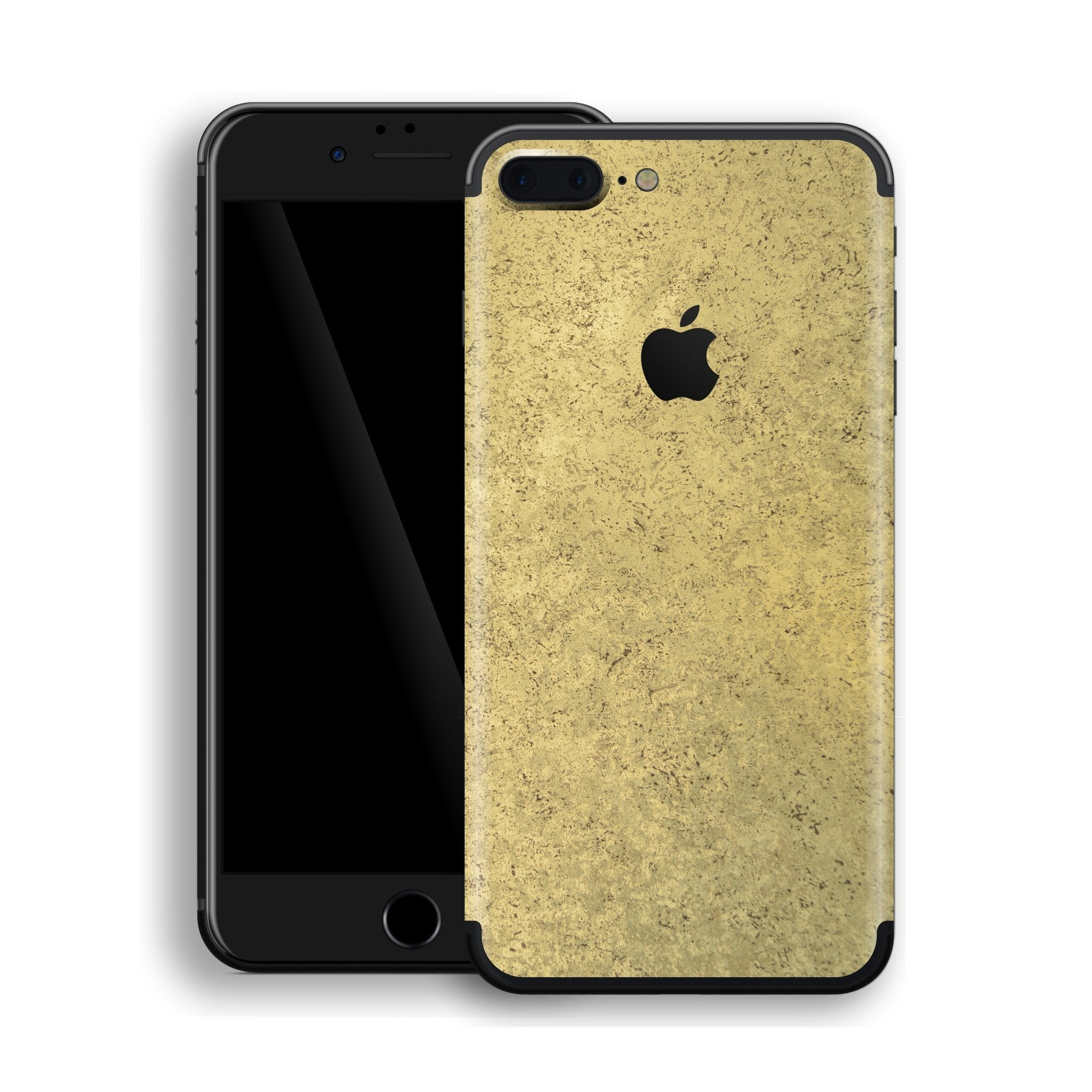 iPhone 8 Plus Luxuria Egyptian Gold and Black Matt Skin Wrap Decal Protector | EasySkinz