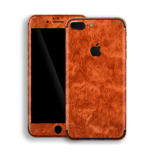 iPhone 7 PLUS Mahogany Wood Wooden Skin Wrap Decal Protector | EasySkinz