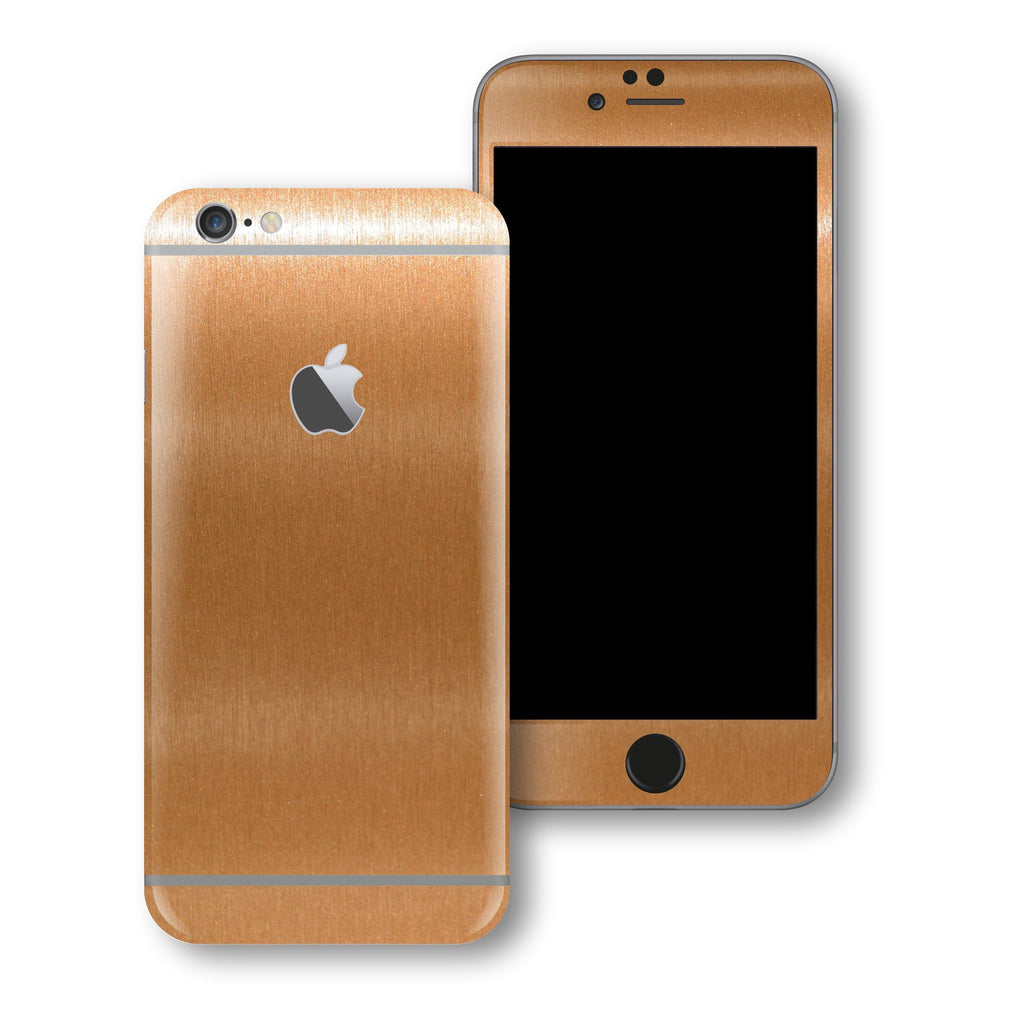 iPhone 6 Plus Brushed Copper Metallic Skin Wrap Sticker Cover Protector Decal by EasySkinz