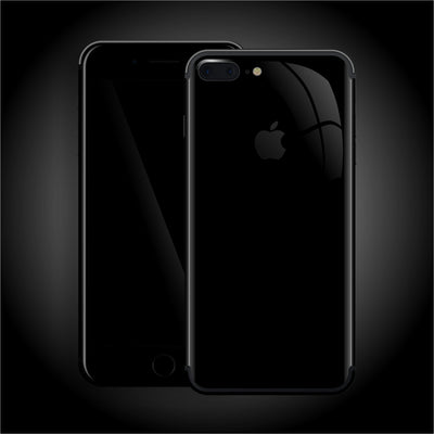 iPhone 7 PLUS Luxuria JET BLACK High Gloss Finish Skin Wrap Decal Protector | EasySkinz
