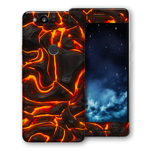 Google Pixel Print Custom Signature Lava Skin Wrap Decal by EasySkinz