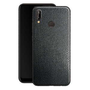 Huawei P20 LITE Luxuria BLACK Leather Skin Wrap Decal Protector | EasySkinz