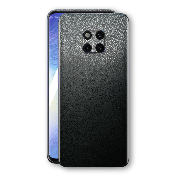 Huawei MATE 20 PRO Luxuria BLACK Leather Skin Wrap Decal Protector | EasySkinz
