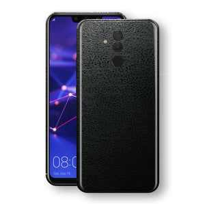 Huawei MATE 20 LITE  Luxuria BLACK Leather Skin Wrap Decal Protector | EasySkinz