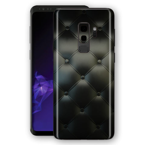 Samsung Galaxy S9+ PLUS Signature Leather Buttons Skin, Decal, Wrap, Protector, Cover by EasySkinz | EasySkinz.com